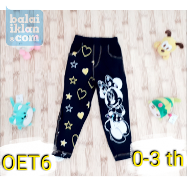 Celana Legging Jegging Anak Warna Hitam Gambar Mickey Mouse 0 1 2 3 Th Balaiiklan Com